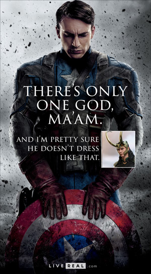 Captain America There's only one God, ma'am